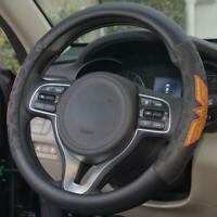 Leather Steering Wheel Cover Official DC Comics Wonder Woman Logo Protector Skin