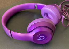 Beats by Dr. Dre Solo Headphones Wired Purple On-Ear with Case