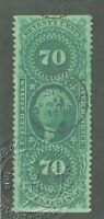 US Revenue Stamps Collection Scott#R65b Used CV$200 APS Cert.