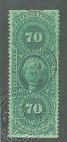 US Revenue Stamps Collection Scott#R65b Used CV$200 APS Cert.