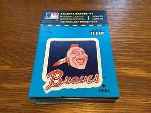 TWENTY FIVE 1982 FLEER BASEBALL STICKERS ATLANTA BRAVES   (ALL THE SAME)