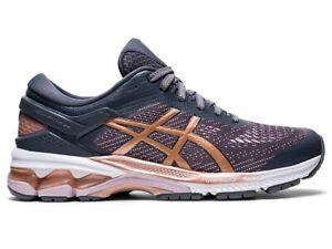 Asics Womens GEL-Kayano 26 Running Shoe, 1012A457 022, Metropolis/Rose Gold, 6.5