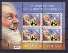 """VATICANO 2018: minifoglio MNH/** """"50° anniversario della morte di Padre Pio""""."""