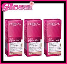 3 X L'OREAL SKIN PERFECTION BB 5 IN 1 CREAM w SPF 15 ❤ LIGHT ❤ GLOSSI AUSTRALIA