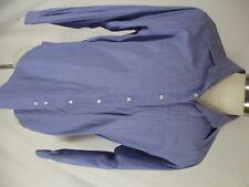 Brooks Brothers Makers Mens Blue Chambray Cotton Dress Shirt 16-35 USA Made