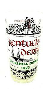 1973 Kentucky Derby 'Secretariat' Churchill Downs Mint Julep Frosted Glass