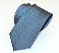 CRAVATTA 100% SETA grigio azzurro jeans uomo tinta unita fatta mano classica A19