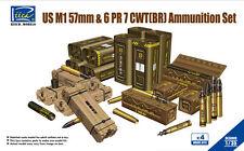 Riich Models RE30009 1/35 WWII US M1 57mm & 6 PR 7 CWT (BR) Ammunition Set