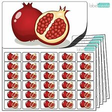 480x Pomegranate Stickers (38 x 21mm) Self Adhesive Fruit Labels By Label Create