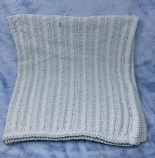 Amy Coe blue cable knit chenille Baby Blanket