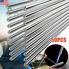 50Pcs Solution Welding Flux-Cored Rods Aluminum Wire Brazing 2mm*500mm Premium