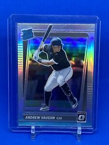 2021 Donruss Optic Baseball Andrew Vaughn Rated Rookie Silver Prizm White Sox