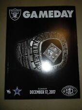 OAKLAND RAIDERS vs Dallas Cowboys Game Day Program 12/17/17