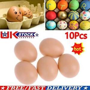 10Pcs Fake Dummy Egg Hen Poultry Chicken Joke Prank Plastic Eggs Party FAST UK