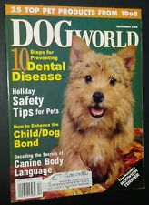 Dogs World Illustrated Magazine Nor. Terrier Cover + Photos & Articles Dec. 1998