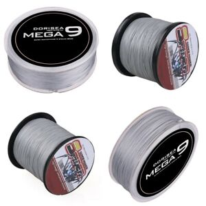 Spider 100M-2000M Grey Super Strong 100% Pe Braided Fishing line 10LB-300LB