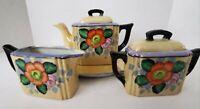 Vintage Lusterware Made in Japan Iridescent Tea Set - Creamer Sugar Bowl Teapot