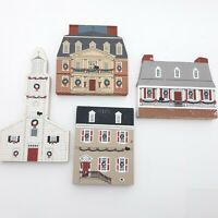 1999 CATS MEOW VILLAGE.  Colonial Virginia Christmas Series. Set of 4.