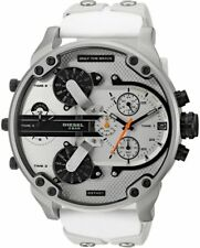 DIESEL DZ7401 MR DADDY 2.0 White Multiple Time Zone Chronograph Mens Watch NEW
