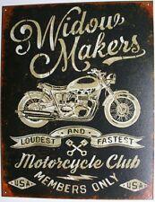 Vintage Replica Tin Metal Sign Widow maker motorcycle harley davidson bike 2076