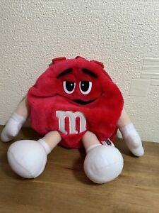 Vintage Rare 2001 Red Promo M&M's Sweets Children's Rucksack Bag soft toy. (A)