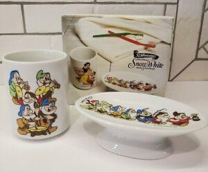NOS Jakson Disney Snow White & Seven Dwarfs 50th Anniversary tumbler soap dish