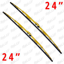 "24""+ 24"" yellow metal all season windshield wiper blades 2 pcs 440y+440y"