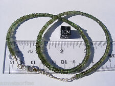 New listing 61.1 carats of checkered cut beads 4.5mm x 1.5mm Moldavite necklace 18 inches