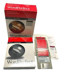 "Novell WordPerfect 6.1 for Windows 3.5"" Floppy Disks Word Processor"