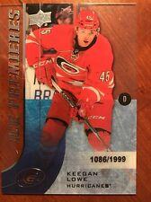 2015-16 UD Ice Hockey Ice Premiers #118 Keegan Lowe 1089/1999 Rookie