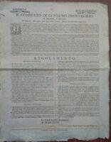1796 MODENA E REGGIO, PROCLAMA SULLA COSTITUZIONE, ASSEMBLEE ED ELEZIONI FUTURE