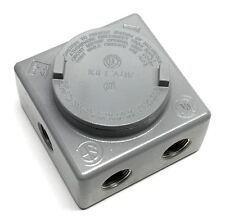 """Killark GRSS-2 Explosion Proof 3/4"""" Outlet Box with 7 Hubs"""