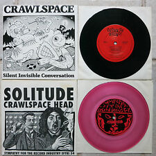 """Crawlspace 2 x 7"""" → Solitude sftri 54 rosa WAX & → SILENT Invisible conversation"""