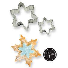 Set 2 Tagliapasta fiocco di neve fiocchi di neve cristalli di ghiaccio PME