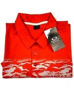 OAKLEY Mens Short Sleeve Polo Shirt Size L Orange