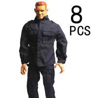 "8pcs 21st Century WWII Cloth Uniform Set 1/6 For 12"" The Ultimate Soldier GI Joe"