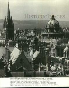 Press Photo View of Oxford, England from the tower of Magdalen College