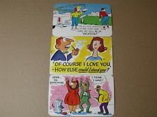 VINTAGE POSTCARDS COMIC DEXTER PRESS C. 1950'S 1 SIGNED TONY ROY SET OF 3  NOS