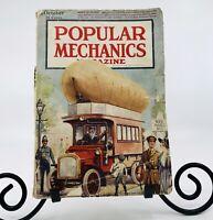 1917 Popular Mechanics Book Magazine No Back Cover Vtg Antique Great Pics Ads