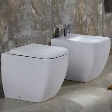 Sanitari filo parete bagno a terra design moderno in ceramica da arredo wc bidet