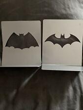 More details for dc comics batman logo steel bookends - eaglemoss - book ends - new