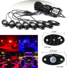 8pcs RGB LED Rock Lights Wireless Bluetooth Music Flashing Offroad Timing Mode