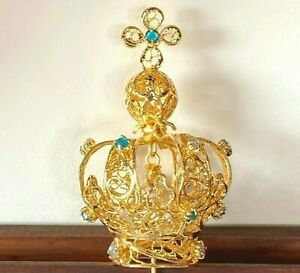 FILIGREE CROWN of Our Lady of FATIMA w/bullet given by Pope John Paul II
