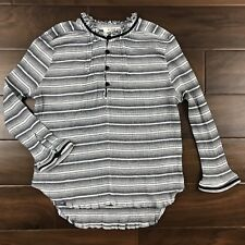 c97c30a5b99 McGuire Women s Size XS   S   M White Black Valentina Stripe Top Blouse  Shirt