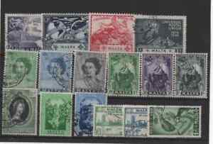16 stamps from malta