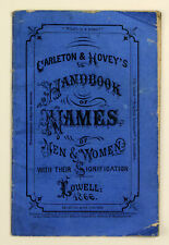 1866 | Handbook of Names and Significance | scarce American advertising booklet