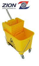 Zion 17Qt Yellow Mop Bucket Commercial Janitorial Mop Buckets