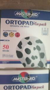 Ortopad Fun Pack Orthoptic Eye Patch Medium Size Box 50 Patches - Latex Free
