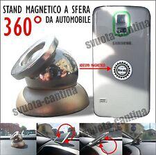 STAND 360 MAGNETICO SFERA SUPPORTO SMARTPHONE AUTO per Samsung Galaxy Note 2 II