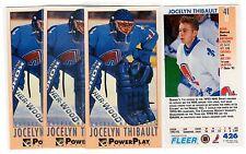 1X JOCELYN THIBAULT 1993 94 Fleer Power Play #427 RC Rookie Lots Avail TALL BOYS